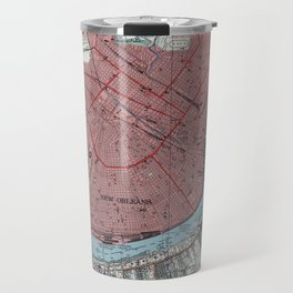 Vintage Map of New Orleans Louisiana (1954) Travel Mug