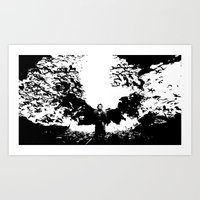 dracula Art Prints featuring Dracula by Panda Cool