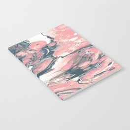 Coral and Navy Marble Notebook