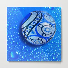 Stone And Water Orb Abstract Metal Print