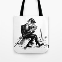 hamlet Tote Bags featuring Hamlet by Mike Laughead
