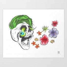 Jackseptiskull Art Print