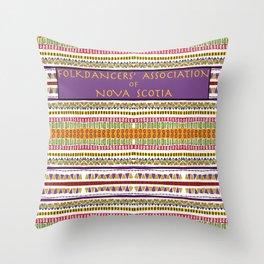 Folkdancers' Association of Nova Scotia Throw Pillow