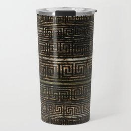 Wooden Greek Meander Pattern - Greek Key Ornament Travel Mug