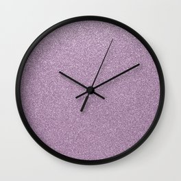 Modern abstract lavender lilac girly glitter Wall Clock