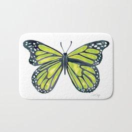 Lime Butterfly Bath Mat