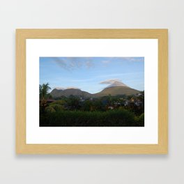 Clouds Surrounding Arenal Volcano, Costa Rica Framed Art Print
