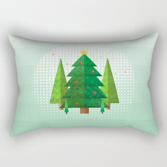 Geometric Christmas Trees Rectangular Pillow