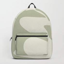 Minimalist Modern Abstract Expressionism in Sage Backpack