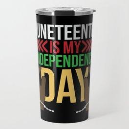 Juneteenth Celebration Black Flag June 19 1865 Travel Mug