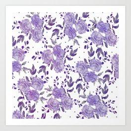 Bouquet of Purple Roses Art Print