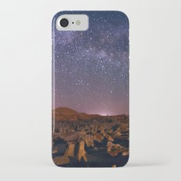 Bisti Badlands Night Sky - Hoodoos Under New Mexico Starry Night  iPhone Case