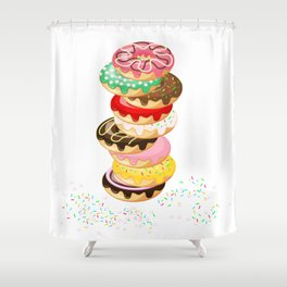 Stack of Donuts Shower Curtain