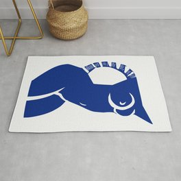 Cubism Nude in blue Rug
