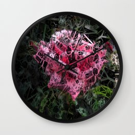 Pink Roses in Anzures 6 Letters 2 Wall Clock