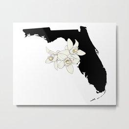 Florida Silhouette Metal Print
