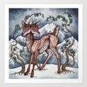 Winter Fawn by caitlinhackettart