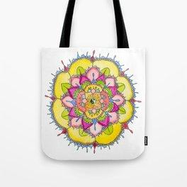 Ying & Yang Petal Mandala Tote Bag