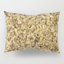 Texture and background from coniferous wood shavings Pillow Sham
