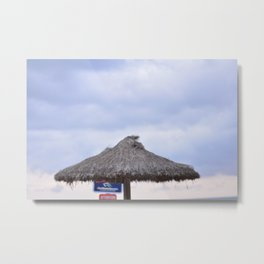 palm tree on the beach and in the sky, travel for leisure, Mallorca and enjoy Metal Print