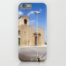 Medieval Church of Aidone in Sicily iPhone Case