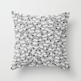 Surveillance Frenzy Throw Pillow