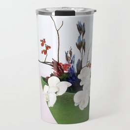 Orchids in a Green Pot Travel Mug