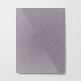 Dense Melange - White and Dark Purple Metal Print