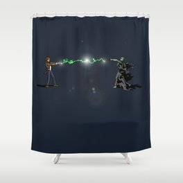 Who Potter Crossover Battle Shower Curtain