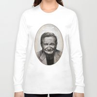robin williams Long Sleeve T-shirts featuring Robin williams by MK-illustration