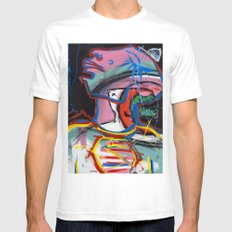 Self Reflectionism by Amos Duggan Mens Fitted Tee White MEDIUM