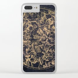 Vintage Constellations & Astrological Signs | Yellowed Ink & Cosmic Colour Clear iPhone Case