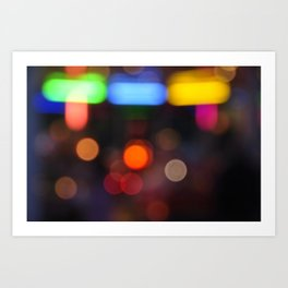 Night Light Colors Art Print