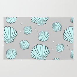 Sea shell jewel pattern Rug