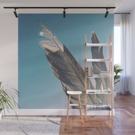 Brown Feathers Wall Mural