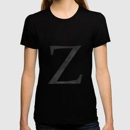 Letter Z Initial Monogram Black and White T-shirt