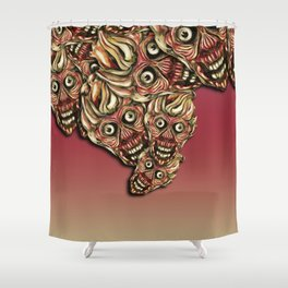 Zombie Crowd Shower Curtain