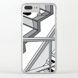 STAIRWELL Abstract Art Clear iPhone Case