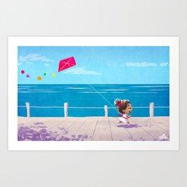 Kite fun ! Art Print