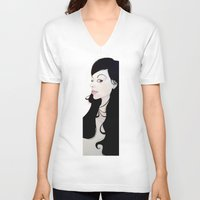nouveau V-neck T-shirts featuring NOUVEAU by michael newton