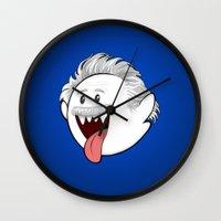 boob Wall Clocks featuring Boo Einstein by Olechka