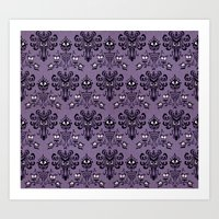 haunted mansion Art Prints featuring The Haunted Mansion by GeekCircus