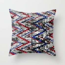 Clinically Proven (P/D3 Glitch Collage Studies) Throw Pillow