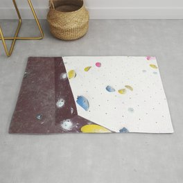 Geometric abstract free climbing bouldering holds pink yellow Rug