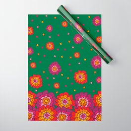 Retro Blooming Wrapping Paper