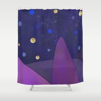 cabin Shower Curtains featuring Cabin Fever by Olivia James