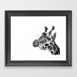 Hey Look, It's a Giraffe! Framed Art Print