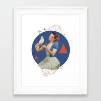 dorothy Framed Art Prints featuring Dorothy by Cut and Paste Lady