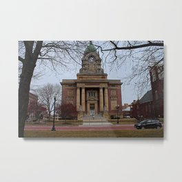 Lake County Courthouse in Winter Metal Print