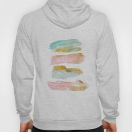 Pastel and gold strokes Hoody